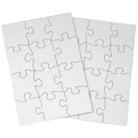 12-Piece Blank Puzzle, 24 Puzzles Per Package, 5-1/2