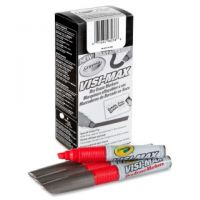 Dry Erase Board Markers, Visi-Max, Chisel Tip, Red