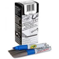 Dry Erase Board Markers, Visi-Max, Chisel Tip, Blue