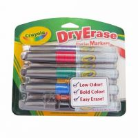Crayola 8 Count Dry Erase Broad Line Chisel Tip Markers, 98-8628