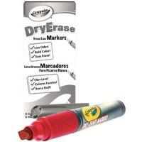 Crayola Dry Erase Marker, Chisel Tip, Red 98-9626-038