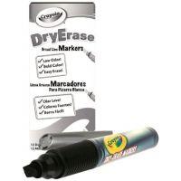 Crayola Dry Erase Marker, Chisel Tip, Black 98-9626-051