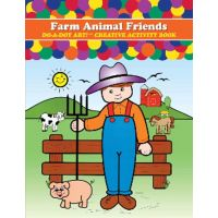 Do - A- Dot Creative Art Book - Farm Animals friends B370