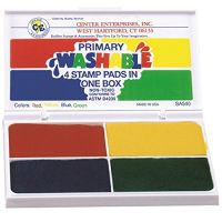 Center Enterprise, Washable Primary Stamp Pad, 4 Colors IN 1 , CE540
