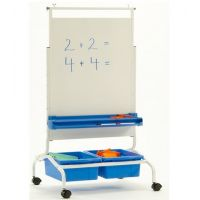 Deluxe Chart Stand Combo with Magnetic Dry Erase Board and Storage Tubs