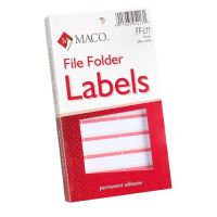 MACO Coral File Folder Labels, 9/16 x 3-7/16 Inches, 248 Per Box FF-L11