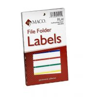 MACO Assorted Primary File Folder Labels, 9/16 x 3-7/16 Inches, 248 Per Box (FFL-A1)