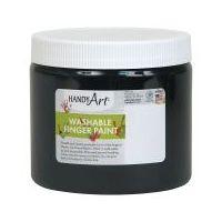 Handy Art Washable Finger Paint 16 oz. Black - HAN241055