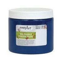 Handy Art Washable Finger Paint 16 oz. Blue - HAN241030
