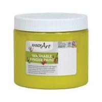 Handy Art Washable Finger Paint 16 oz. Yellow - HAN241010
