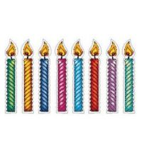 Judaica pre cut cardstock  Colorful Candle Set