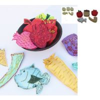 Decorate Jewish Craft shapes, Rosh Hashana Set