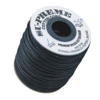 Black Waxed Cotton Cord 2mm thick   110 Yards