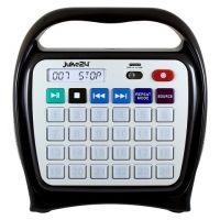 Kids Juke24 - Portable, Digital Jukebox With CD Player And Karaoke Function - Black/Gray