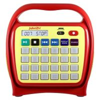 Kids Juke24 - Juke24 - Portable, Digital Jukebox With CD Player And Karaoke Function - Red/Yellow