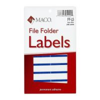 MACO Dark Blue File Folder Labels, 9/16 x 3-7/16 Inches, 248 Per Box ,FF-L5