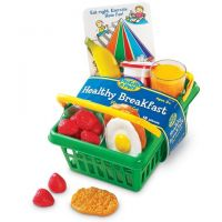 Learning Resources Pretend and Healthy Breakfast Set Basket , LER7290