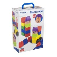 Miniland Super Blocks with Characters, 32-Pieces Set