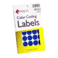 MACO Dark Blue Round Color Coding Labels, 3/4 Inches in Diameter, 1000 Per Box ,MR1212-11
