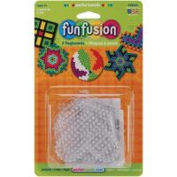 Perler Fun Fusion Bead Clear Pegboards Circle, Star, Heart, Hexagon, Square 2800
