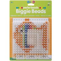 Perler Beads Clear Large Square Biggie Bead Pegboard 2 Pack 70712