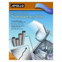 Apollo Plain Paper Copier Film without Sensing Stripe, 8.5 x 11 Inches, Clear 100 Sheets per Box