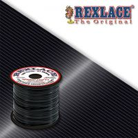 Pepperell Rexlace Plastic Craft 100 Yard Spool, 3/32-Inch Wide, Black