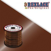 Pepperell Rexlace Plastic Craft 100 Yard Spool, 3/32-Inch Wide, Brown
