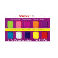 Sculpey III Multipack - Bright Colors - 10/SET