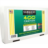 Sargent Art 22-3220 400-Count Best Buy Assortment Regular Crayon, 8 Colors
