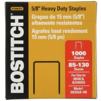 Bostitch Heavy Duty Premium Staples, 85-130 Sheets, 5/8-Inch Leg, 1,000 Per Box (SB355/8-1M)