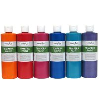 Handy Art 231-055 Tempera Paint, Sparkle Black, 16-Ounce