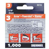 Surebonder Light Duty 5/16-Inch , Arrow JT21 Type, 5580, 1000 Count 55116