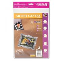 Darice, Art Canvas for Printers 100 Percent Cotton 8.5 x 11 inches 2 sheets