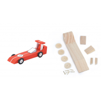 Darice Wood Model Kit - Race Car - 6-1/4 x 2-1/8 inches (9169-03)