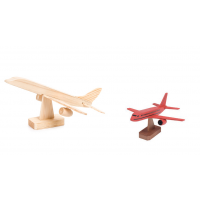 Darice Wood Model Kit - Jumbo Jet - 7 x 4 inches (9178-94)