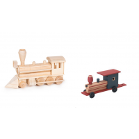 Darice Wood Model Kit - Civil War Steam Engine (9193-03)