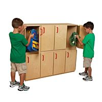 Wood Designs, Classroom Stacking Locker - Two Units