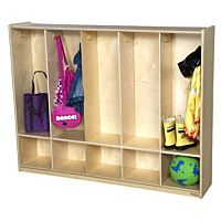Wood Designs, Classroom Five Section Toddler Locker