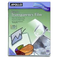 Apollo Write-On Transparency Film, 8.5 x 11 Inches, Clear, 100 Sheets per Box ,WO100C