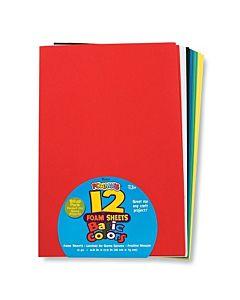 "Foamies® Sheets - 12"" x 18"" - Basic Color Assortment 12 sheets"