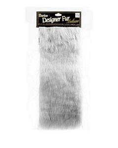 Darice 2500-10 Large Luxury Fur - White