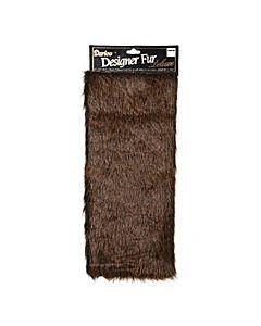 Darice 2500-50 Large Luxury Fur - Dark Brown