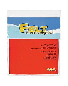 """Felt by the Yard - 36"""" x 36"""" -  Orange"""
