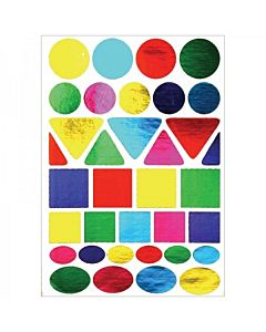 Hygloss Foil Geometric Shapes Stickers 20 sheets