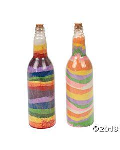Tropical Sand Art Bottles - 12 per package