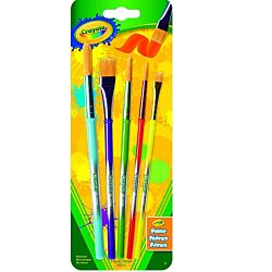 Crayola Paint Brush Set 5 ct Arts and Crafts, Variety of Shapes and Sizes