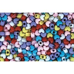 Pony Beads Acrylic Heart Shaped  Opaque Colors  10 x 12mm  1 lb