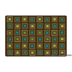 Kids Literacy Squares Nature Carpet  4' x 6' (without Letters)
