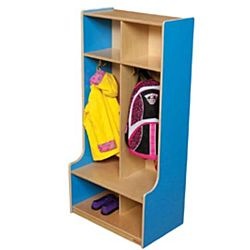 Wood Designs, Children 2 Section Locker Blue, WD52400B
